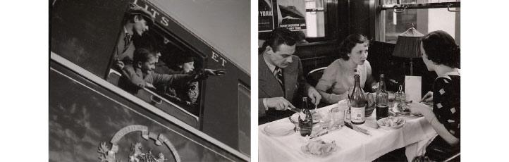 Des passagers de la compagnie des Wagons-Lits
