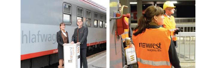 Un employé de la compagnie ferroviaire Wagons-Lits en service