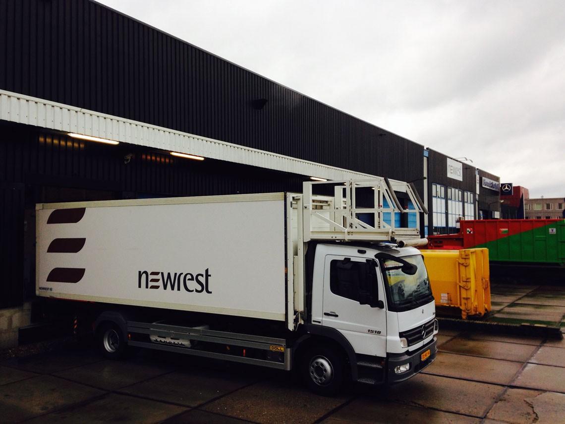 Camion de Newrest à Amsterdam