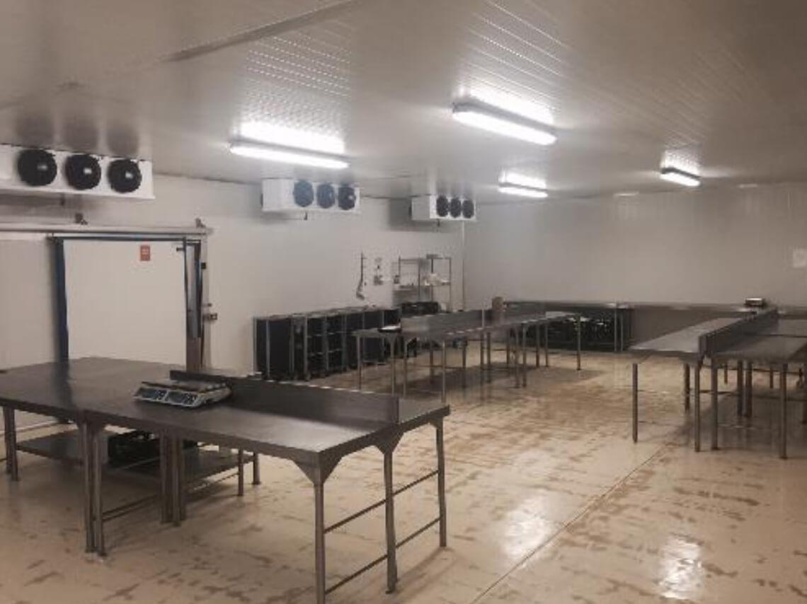 Unité de production de Newrest au Cap