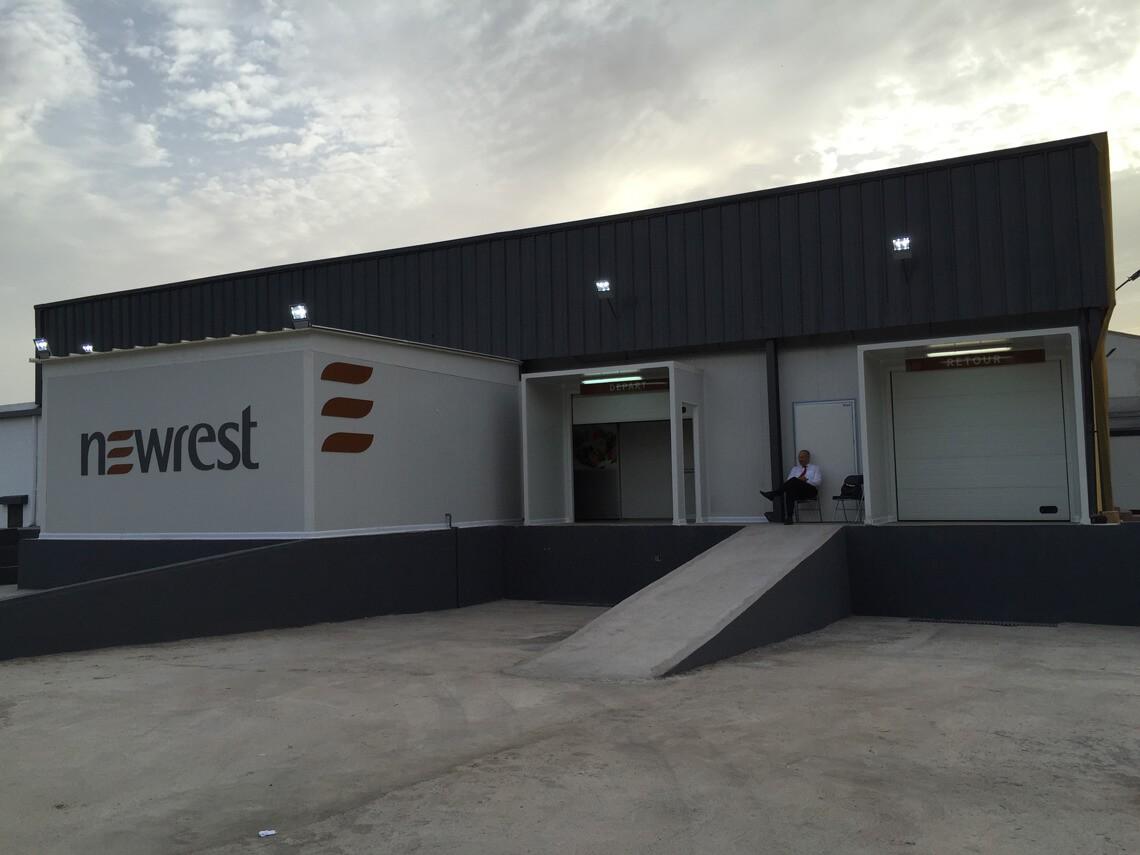 Vue extérieure sur l'unité de production de Newrest à Casablanca