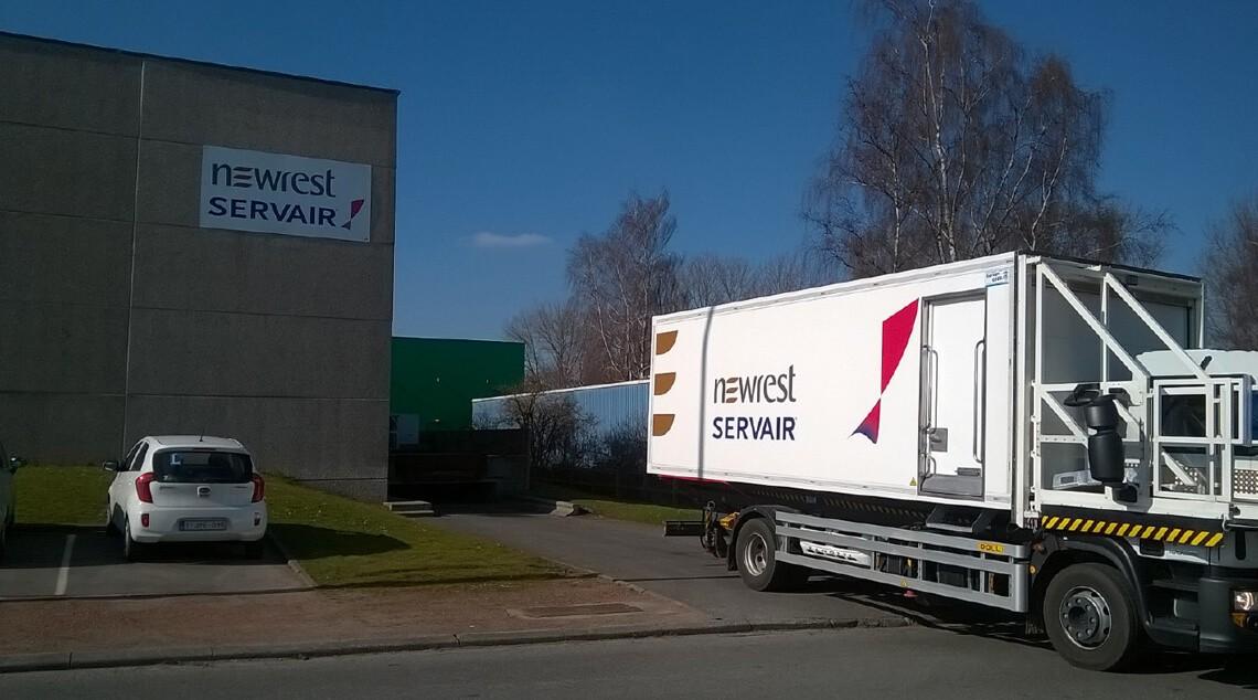 camion de Newrest à Charleroi