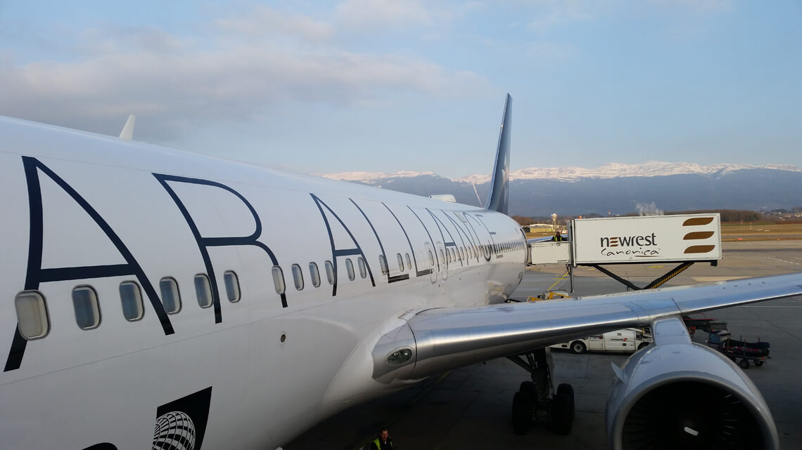 Avion au sol à Genève
