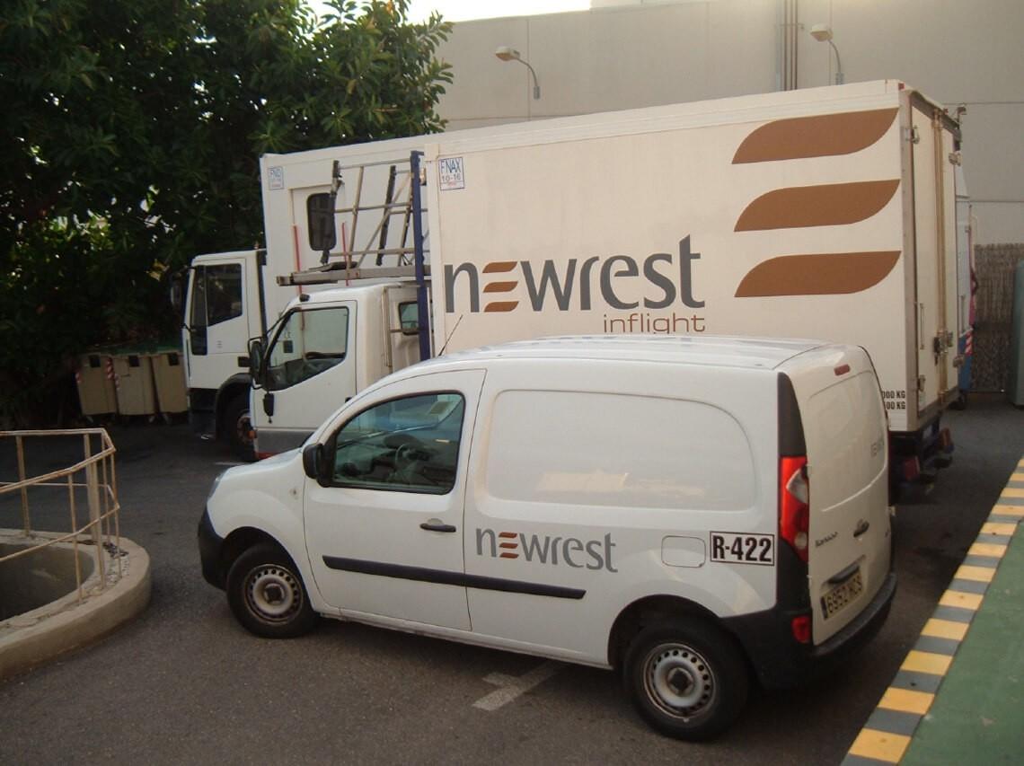 Camion de Newrest à Ibiza