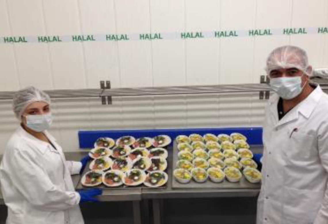 Cuisine de l'unité de Newrest à Larnaca