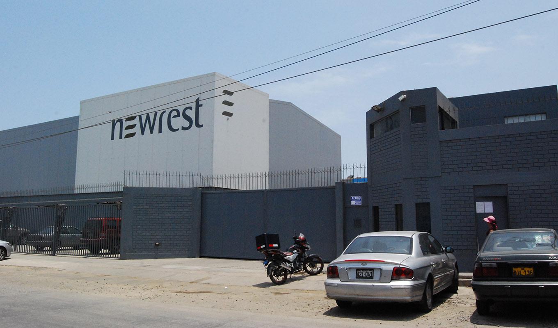 Entrada de la unidad de producción de Newrest en Perú