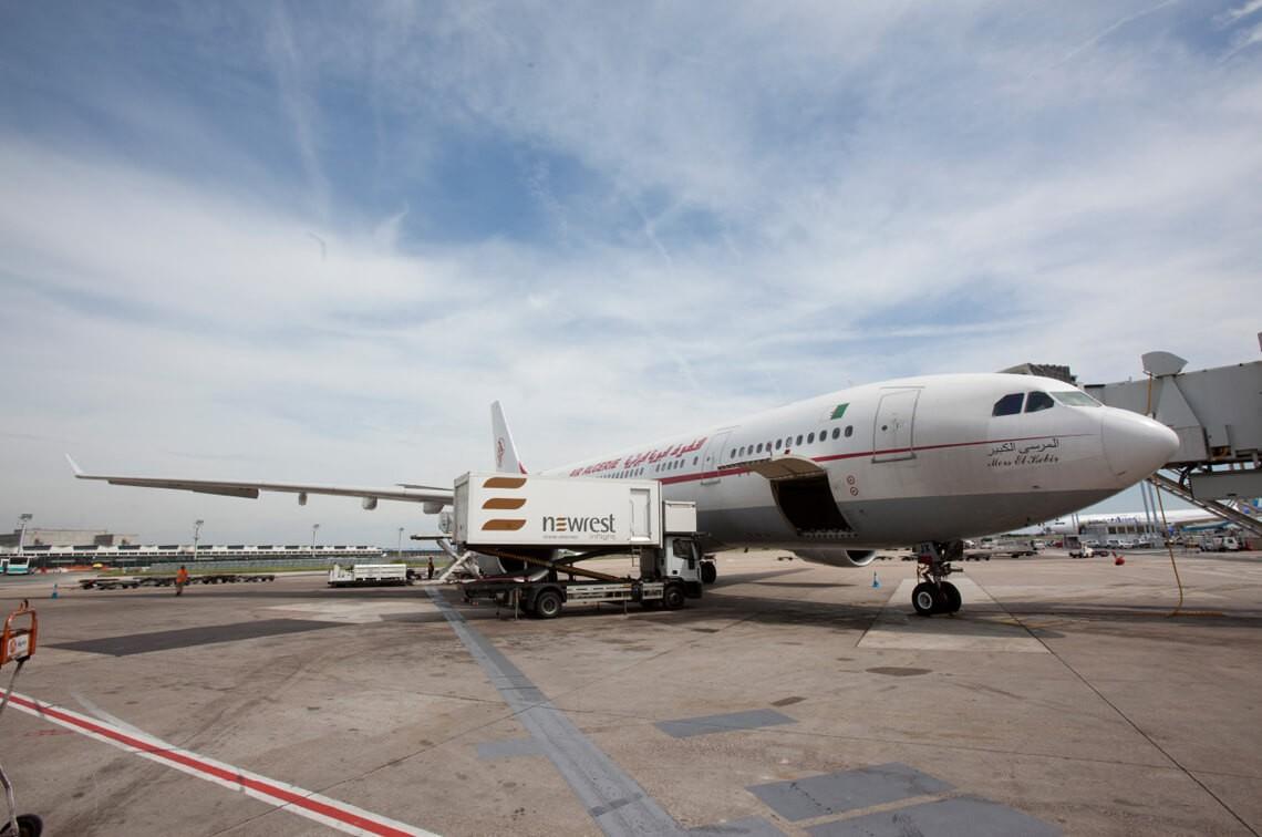 Restauration embarquée à l'unité l'unité de production de Newrest Paris Orly pour notre client Air Algérie