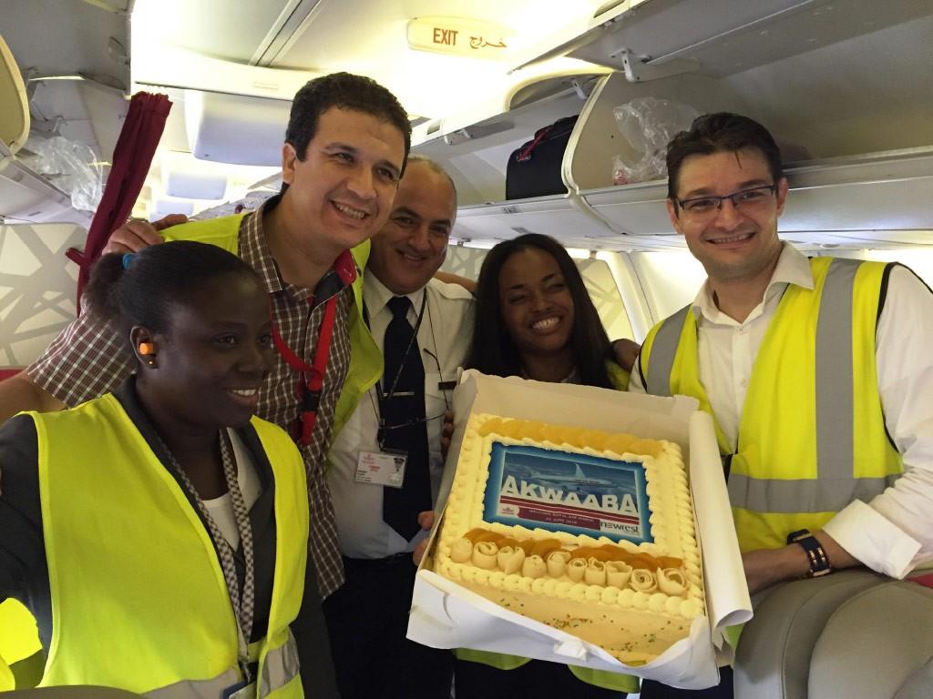 Equipe de Newrest pour la compagnie Royal Air Maroc au Ghana