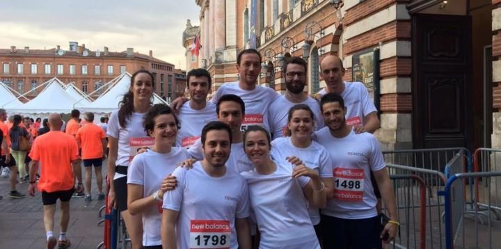 L'équipe de Newrest lors de la Corrida Pédestre de Toulouse