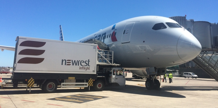 Newrest Barcelone American Airlines