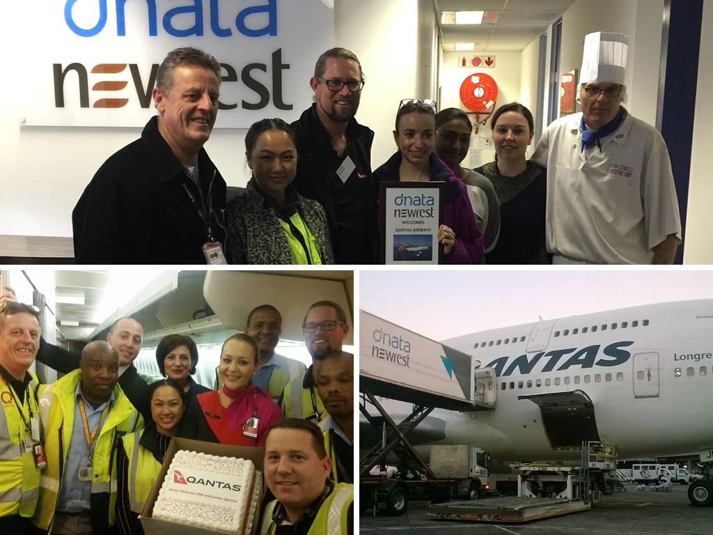 dnata Newrest Qantas Johannesbourg