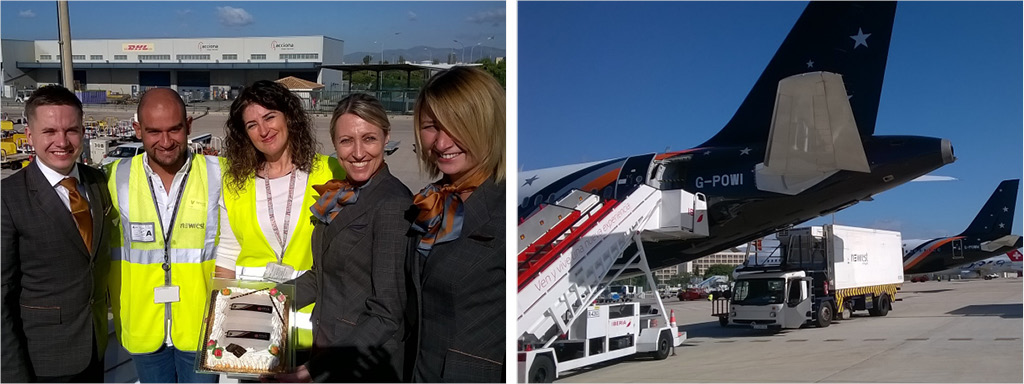 Newrest Espagne Titan Airways
