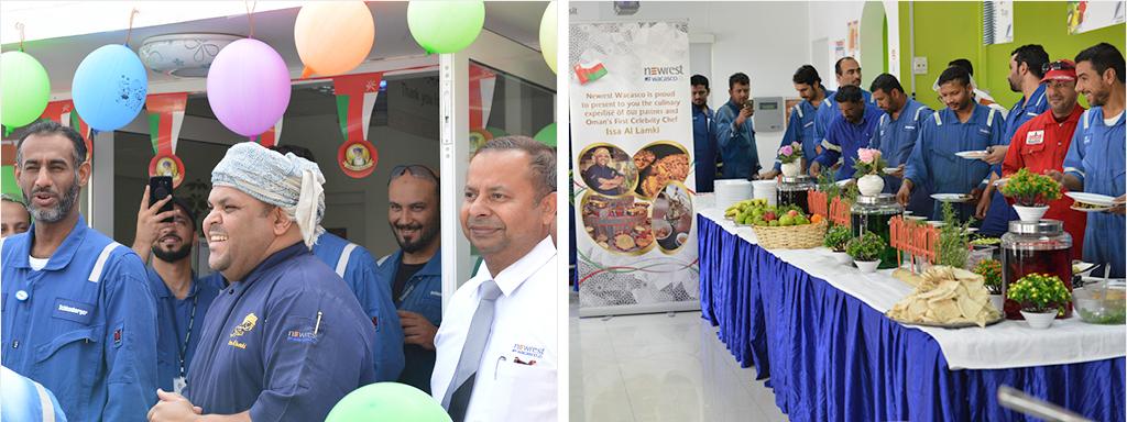 Newrest Wacasco presented 'Omani Fusion' at Shlumberger Base Camp Nizwa