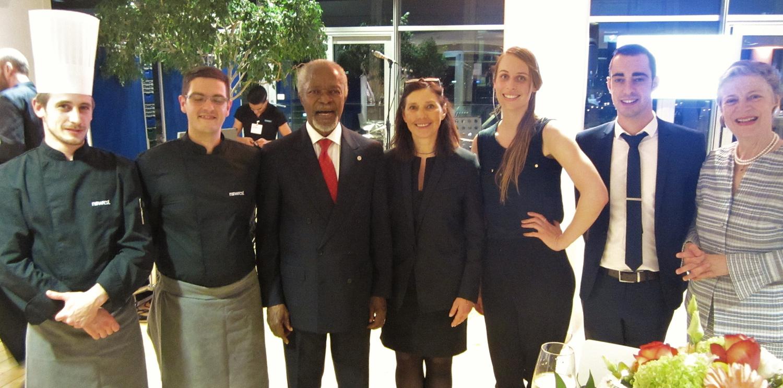 Newrest Suisse a organisé la réception pour les 80 ans de Kofi Annan à l'OMM
