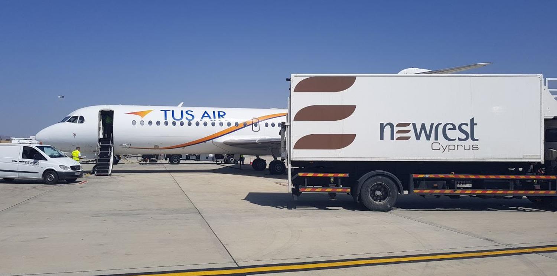 Newrest Chypre a démarré un nouveau contrat avec Tusair à Larnaca