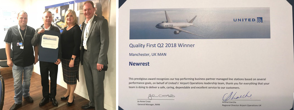 Manchester Newrest United Kingdom Has Picked Up An Award From United Airlines