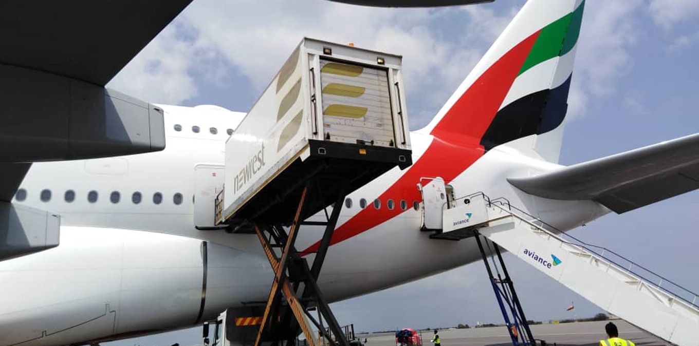 Newrest Ghana served the 1st A380 aircraft arrived in Ghana