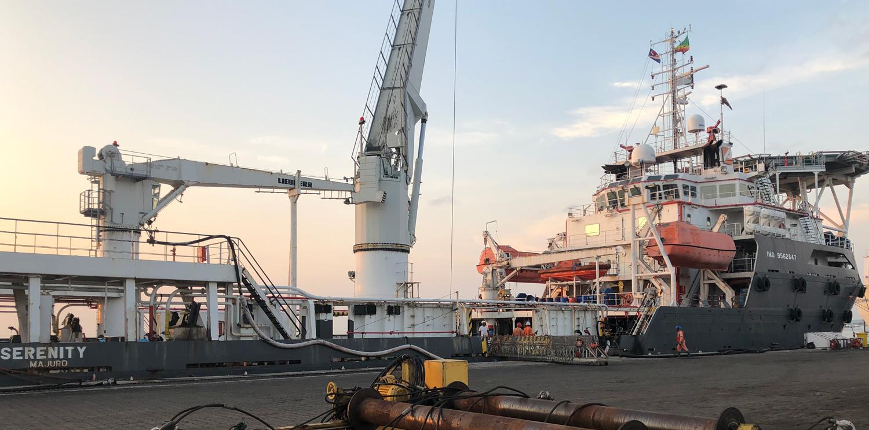 Newrest Congo à bord du Mamola Serenity de Total