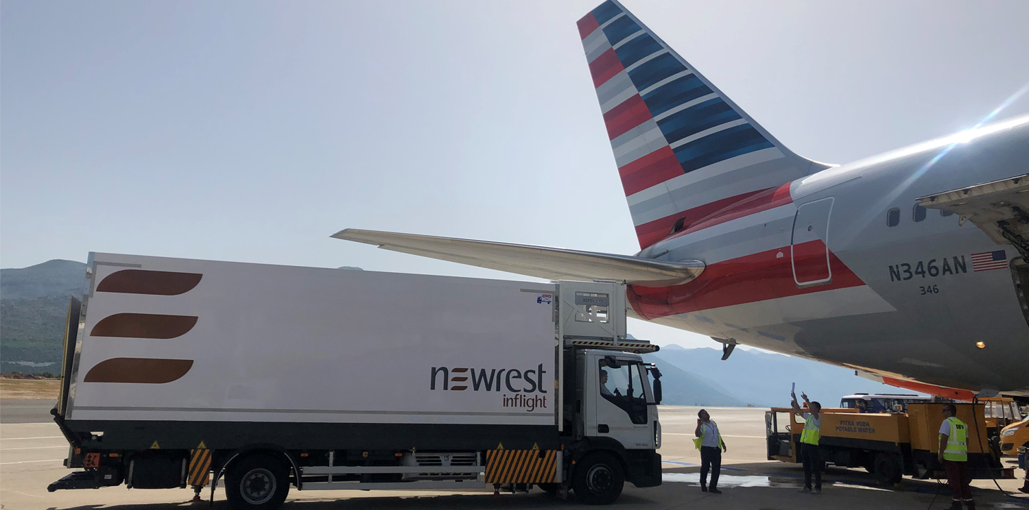 Newrest Dubrovnik has started serving the summer flights of American Airlines!
