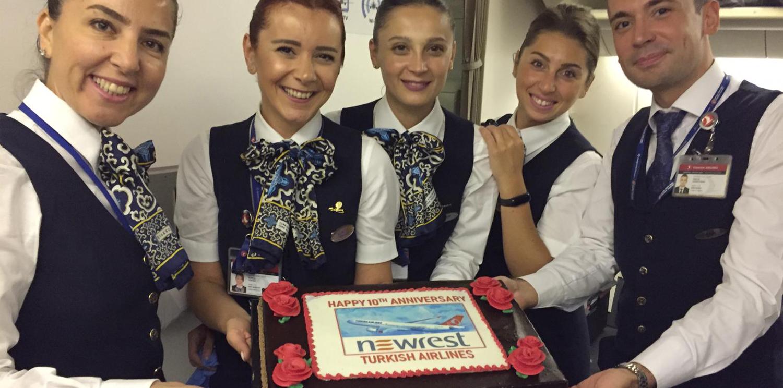 Newrest Toronto a célébré avec Turkish Airlines son 10ème anniversaire