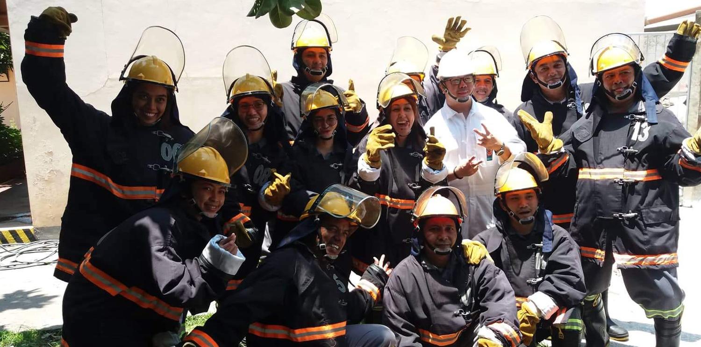 Newrest SOS a suivi une formation de base en sécurité incendie