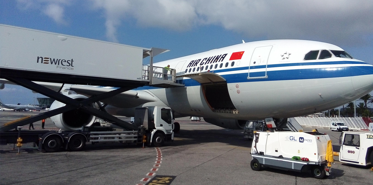 Newrest France has started a new contract with Air China at Nice Airport