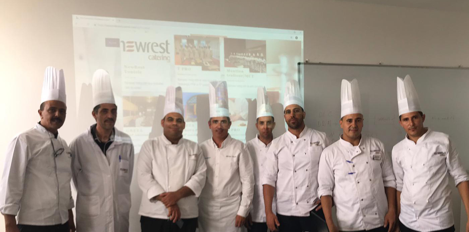 Newrest Tunisia provided training in French cuisine to its Chefs