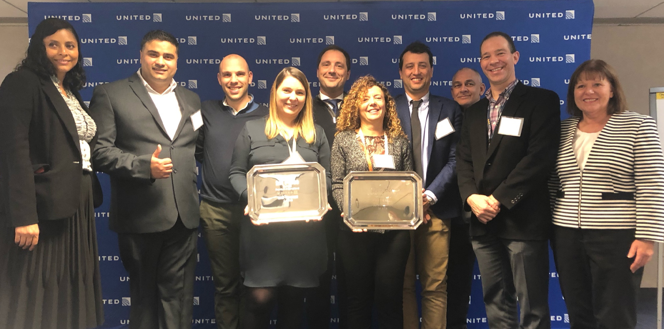 United Airlines Catering Summit : Newrest Cancun & Heathrow récompensées !