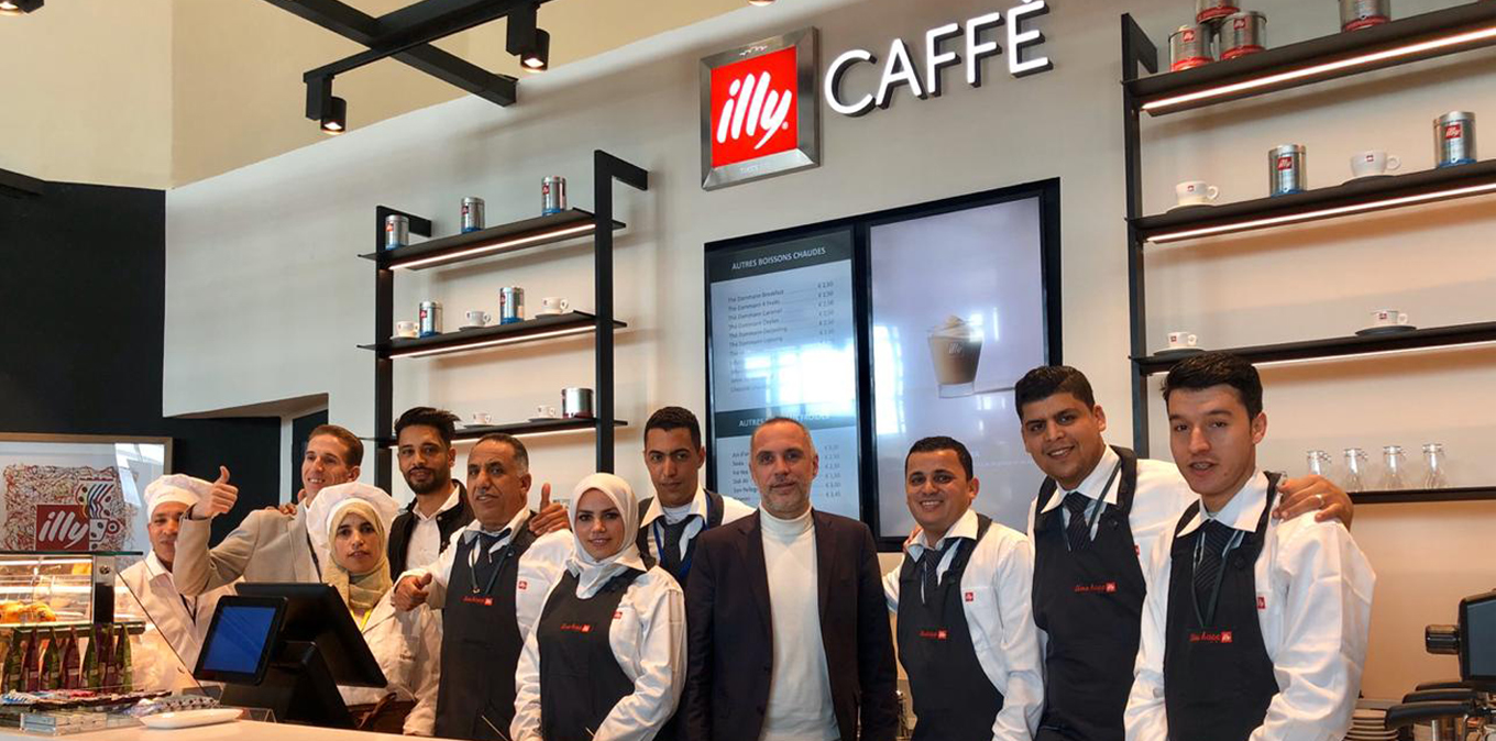 Newrest Morocco opens an Illy Caffè in Tangier