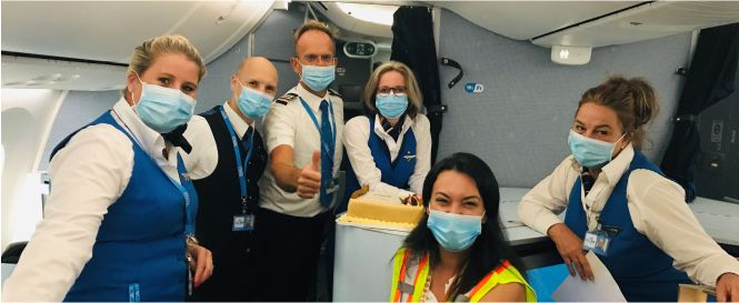 Welcome Back KLM crew
