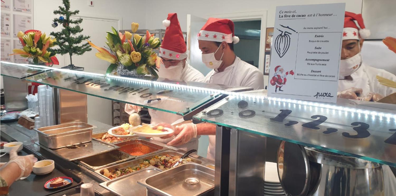 Nos restaurants scolaires en Tunisie célèbrent les fêtes de fin d'année