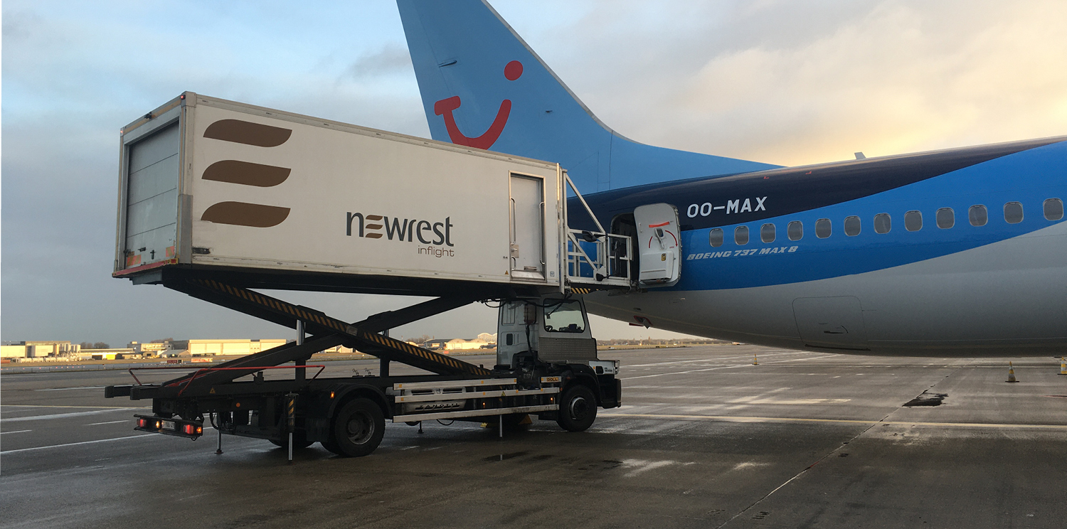 Newrest serves the first Boeing 737 Max to take off again from Europe