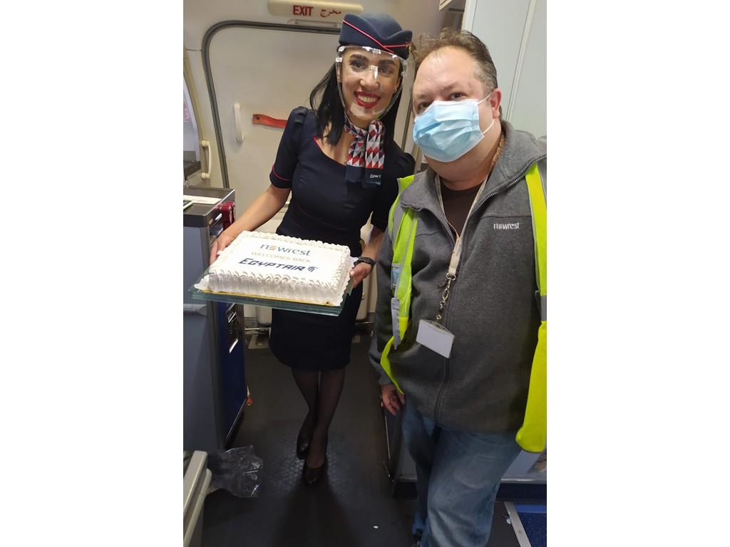 Egyptair Madrid catering aéreo