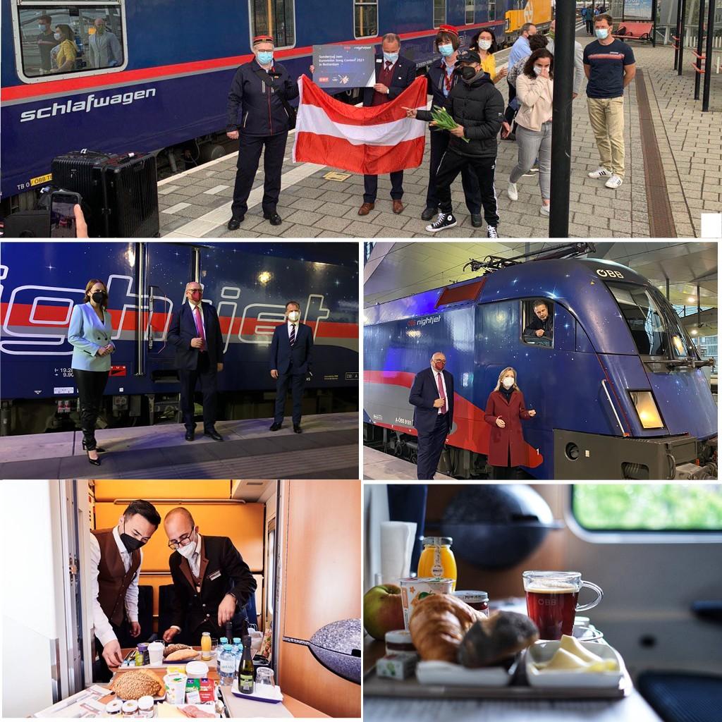 night train Austria restart catering