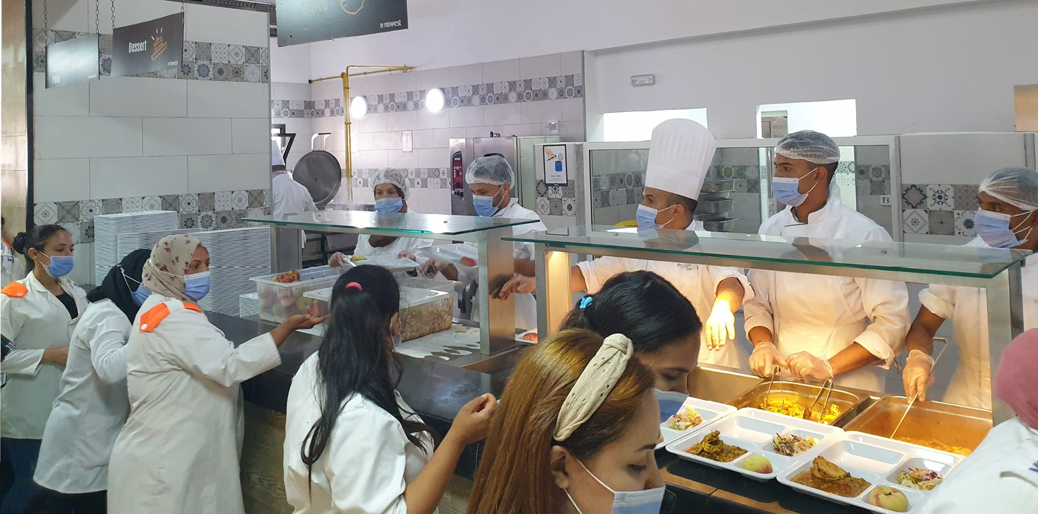 Newrest's catering activity grows in the wiring industry in the Maghreb