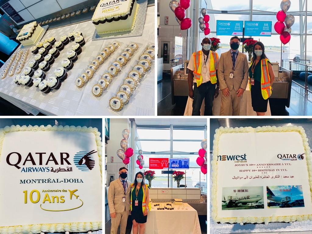 Qatar Airways anniversary Montreal