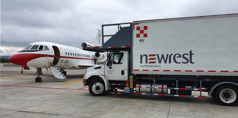 Newrest sirvió el catering del presidente de España de visita en Costa Rica