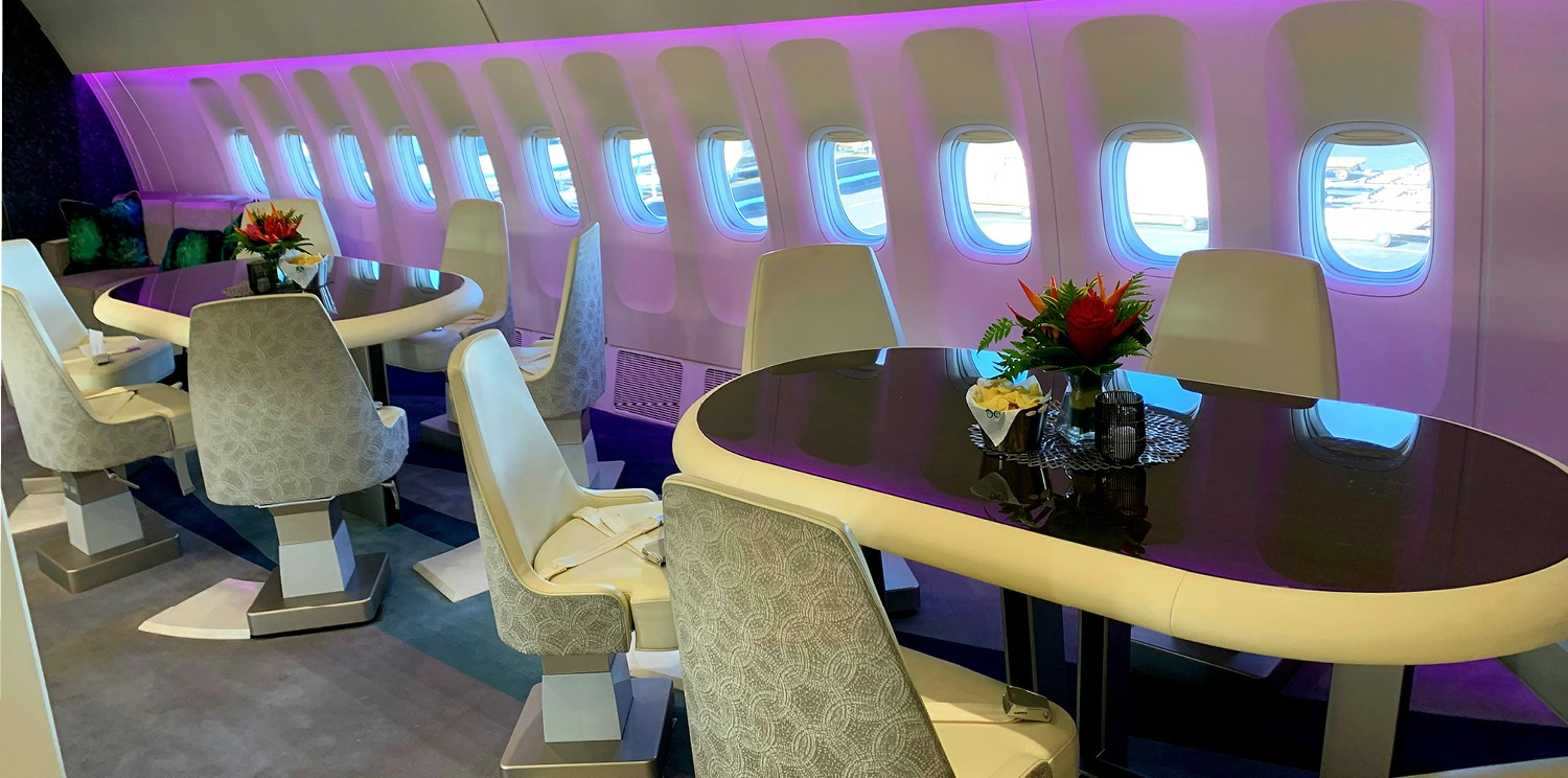 Newrest provides catering services to a Crystal Cruise VVIP flight in Polynesia