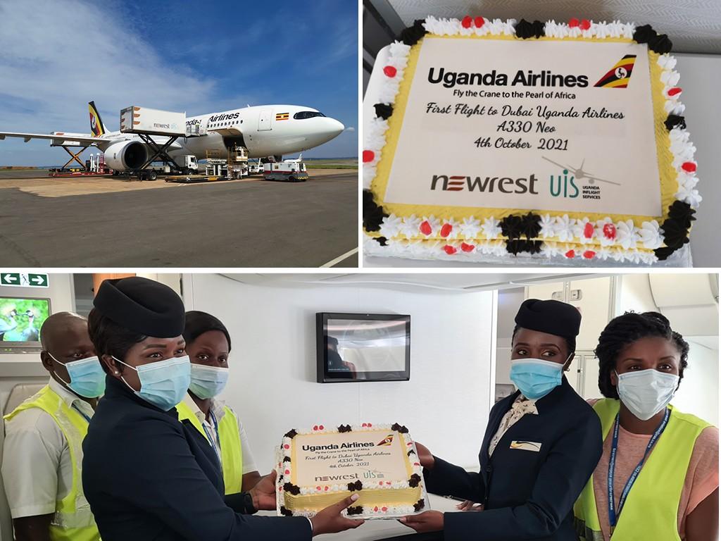 Uganda Airlines international catering